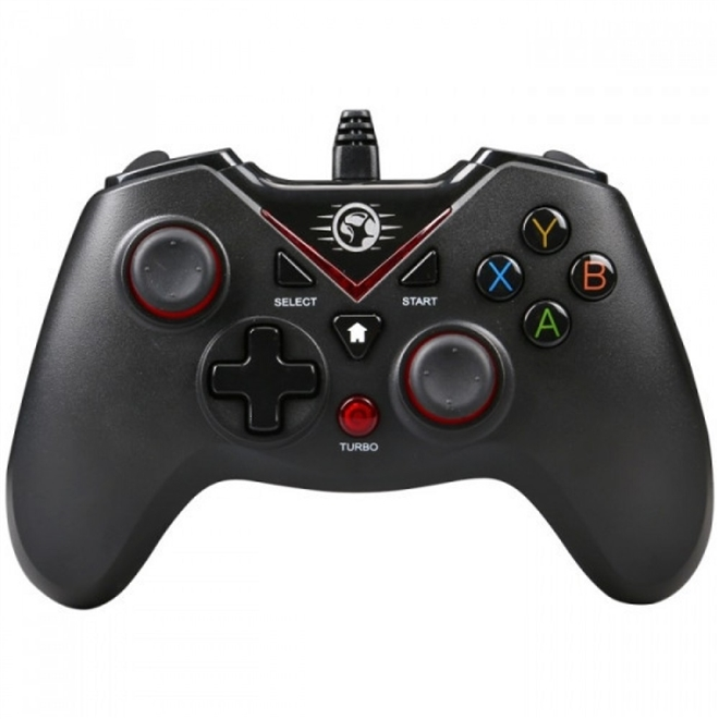 CONTROLE GAMER COM FIO MARVO GT-016, VIBRAÇÃO, USB, PC/PS3, MARVO-GT-016