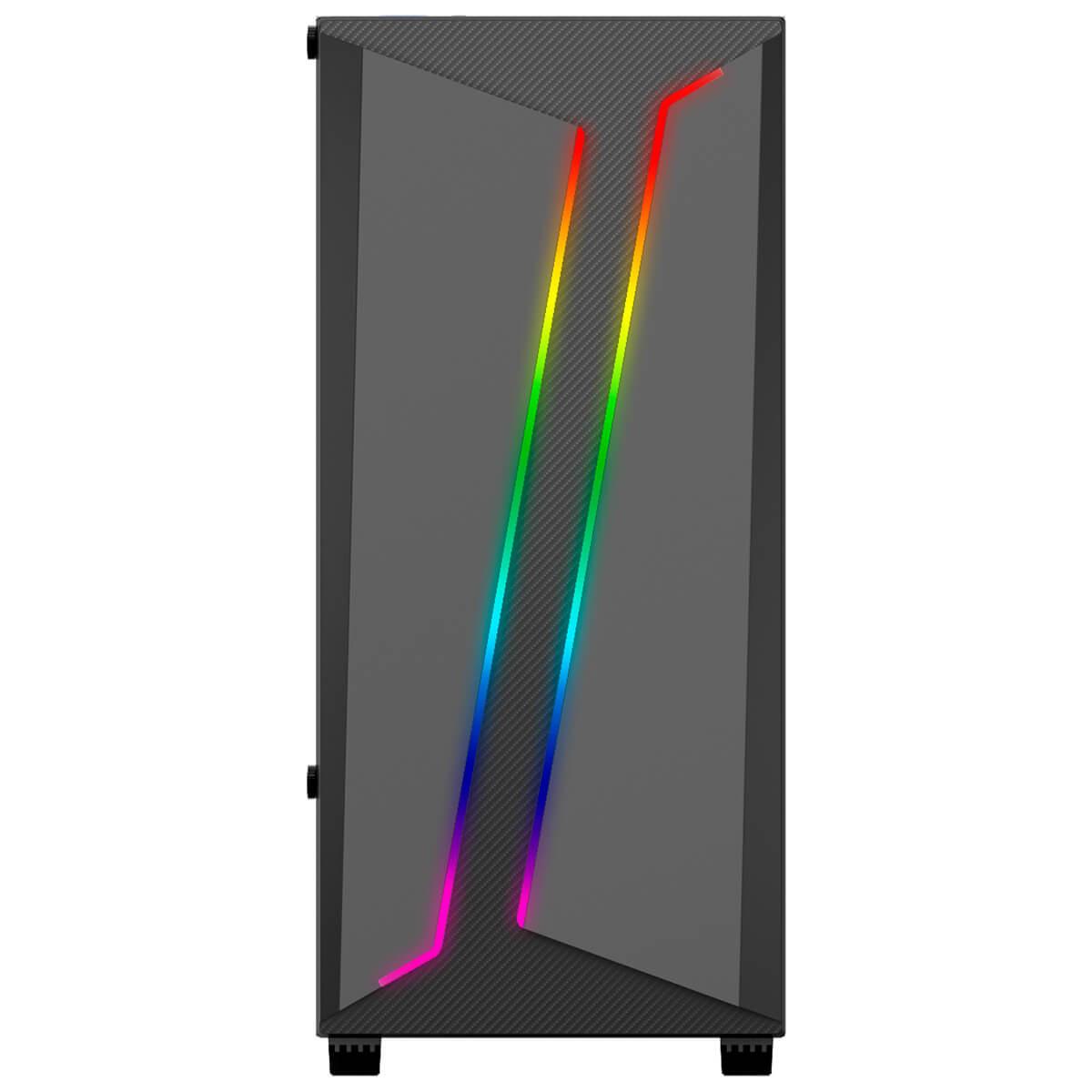 GABINETE GAMER BG-038 PRETO BLUECASE LED RGB USB 3.0